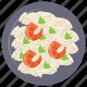 alfredo pasta, mexican pasta, mexican traditional dish, shrimp alfredo pasta, shrimp pasta icon