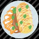beef burrito, breakfast, burrito, mexican burrito, vegetariano burrito icon