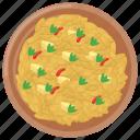 italian cuisine, italian food, plate, risotto rice, vialone nano icon