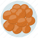 croquettes, cuisine, food, mashed potatoes, spanish traditional icon