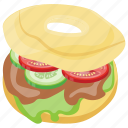 cheeseburger, delicious, donut burger, fatburger, glazed donut icon