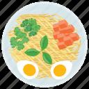 egg salad, healthy breakfast, morning meal salad, organic food, weight loss diet