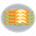 asian food, cultural cuisine, dango, japanese spring dango, skewers icon
