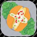 ciabatta, garlic bread, garlic bread sandwich, homemade garlic burger, italian food icon