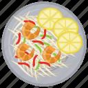 crab salad, imitation crab, italian seafood salad, seafood salad, shrimp salad icon