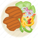 barbecue, grilled chicken, grilled chicken breast, healthy grilled chicken, oven baked grilled chicken icon