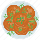 aloo cutlet, bread cutlet, chicken cutlet, cutlet, round shaped cutlet icon