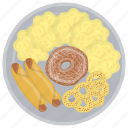 evening meal, feast, main meal, supper, supper food icon