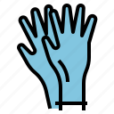 aseptic, clean, disposable, gloves, hand, protection icon