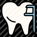 clean, dental, disposable, flosser, teeth icon