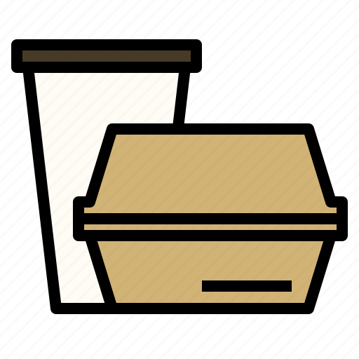 away, container, disposable, drink, food, take icon