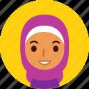 woman, avatar, female, face, girl, muslim, hijab