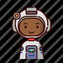 african, astronaut, avatar, boy, diversity, people, profession