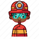 african, avatar, boy, diversity, firefighter, people, profession