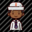 african, avatar, boy, diversity, people, profession, sailor