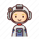 astronaut, avatar, blonde, boy, diversity, people, profession