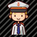 avatar, blonde, boy, captain, diversity, people, profession