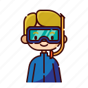 avatar, blonde, boy, diver, diversity, people, profession
