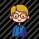 avatar, blonde, boy, diversity, people, profession, teacher