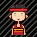 athlete, avatar, boy, chinese, diversity, people, profession