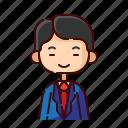 avatar, boy, businessman, chinese, diversity, people, profession