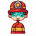 avatar, boy, chinese, diversity, firefighter, people, profession