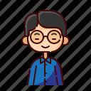 avatar, boy, chinese, diversity, people, profession, teacher