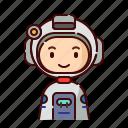 astronaut, avatar, boy, diversity, man, people, profession