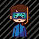 avatar, boy, diver, diversity, man, people, profession