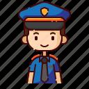 avatar, boy, diversity, man, people, police, profession