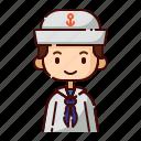 avatar, boy, diversity, man, people, profession, sailor