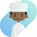 african, avatar, baker, boy, diversity, people, profession icon