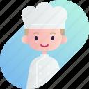 avatar, baker, blonde, boy, diversity, people, profession icon