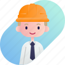 avatar, blonde, boy, diversity, foreman, people, profession icon