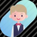 avatar, blonde, boy, diversity, people, profession, waitress