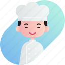 avatar, baker, boy, chinese, diversity, people, profession icon