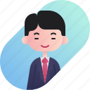 avatar, boy, businessman, chinese, diversity, people, profession icon