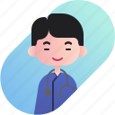 avatar, boy, chinese, diversity, doctor, people, profession icon