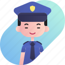 avatar, boy, chinese, diversity, people, police, profession icon