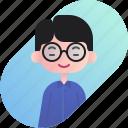 avatar, boy, chinese, diversity, people, profession, teacher icon