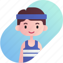 athlete, avatar, boy, diversity, man, people, profession