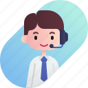 avatar, boy, call center, diversity, man, people, profession