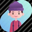 avatar, boy, diversity, lumberjack, man, people, profession