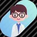 avatar, boy, diversity, man, people, profession, professor icon