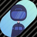 avatar, boy, diversity, man, people, profession, rider