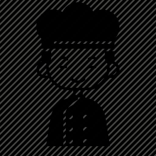 avatar, baker, boy, chinese, diversity, people, profession icon