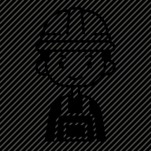 avatar, boy, diversity, engineer, man, people, profession icon