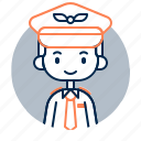 avatar, boy, diversity, man, people, pilot, profession icon