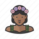 african, african american, flowers, hippie, pretty icon