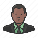 african, african american, man, necktie, suit icon